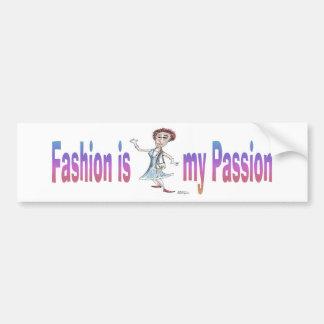 ファッションは私の情熱です バンパーステッカー