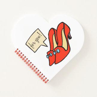 ファッション愛日記のかわいらしいハートのノート ノートブック