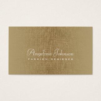ファッション・デザイナーのシンプルな青銅色のリネンカード 名刺