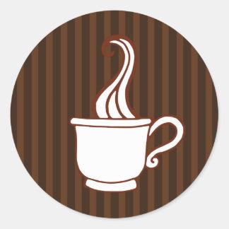 ファッジのコーヒーステッカー ラウンドシール