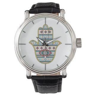 ファティマの記号のお守り、種族のアズテック人のHAMSA手 腕時計