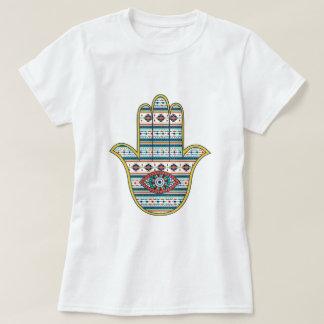 ファティマの記号のお守り、種族のアズテック人のHAMSA手 Tシャツ