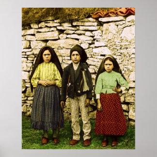 ファティマ聖母マリアの子供の私達の女性 ポスター