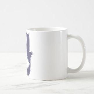 ファティマ/メリーお守り/運のHamsa/Khamsa手 コーヒーマグカップ
