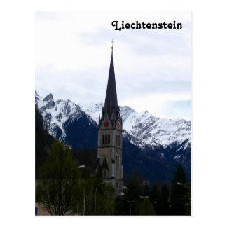 ファドゥーツ、リヒテンシュタインの教会 ポストカード