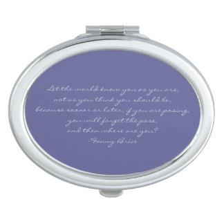 ファニーブリスの引用文の紫色の青い密集した鏡