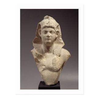 ファラオ(大理石)としてローマ皇帝のバスト ポストカード