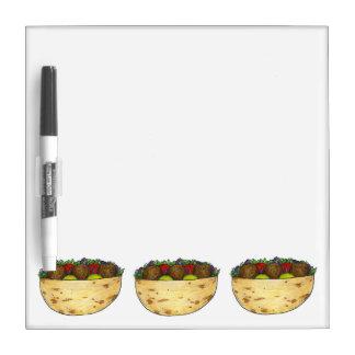 ファラフェルのピタサンドイッチ食糧グルメのギフト ホワイトボード