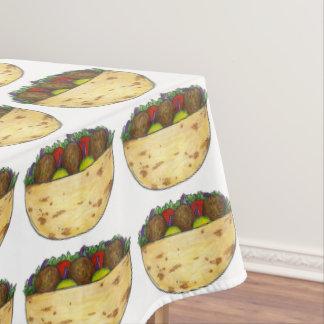 ファラフェルのピタサンドイッチ食糧グルメのパーティーのテーブルクロス テーブルクロス