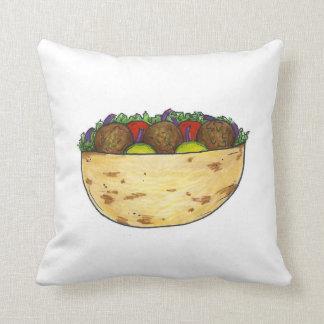 ファラフェルの枕が付いている地中海のな食糧ファラフェルのピタ クッション