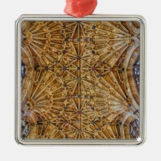 ファンのアーチ形天井 シルバーカラー正方形オーナメント