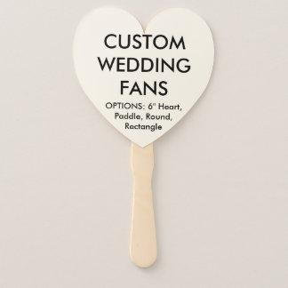 ファンのテンプレートを結婚するカスタムで名前入りなハート ハンドファン