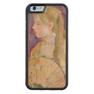 ファンを持つ若い女の子、1893年 CarvedメープルiPhone 6バンパーケース