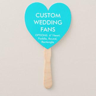 ファンを結婚するカスタムで名前入りなターコイズのハート ハンドファン