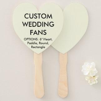 ファンを結婚するカスタムで名前入りなベージュハート ハンドファン