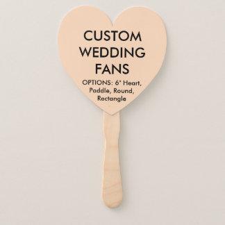 ファンを結婚するカスタムで名前入りなモモのハート ハンドファン
