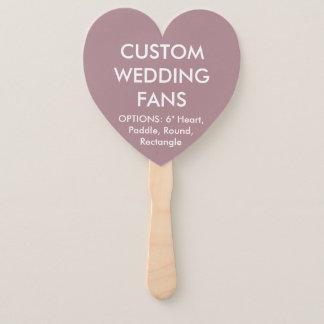 ファンを結婚するカスタムで名前入りなローズピンクのハート ハンドファン
