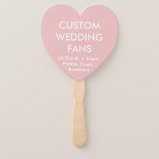 ファンを結婚するカスタムで名前入りな明るいピンクのハート ハンドファン