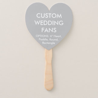 ファンを結婚するカスタムで名前入りな銀製灰色のハート ハンドファン