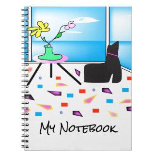 ファンキーでお洒落でカラフルなマイアミのグラフィック ノートブック