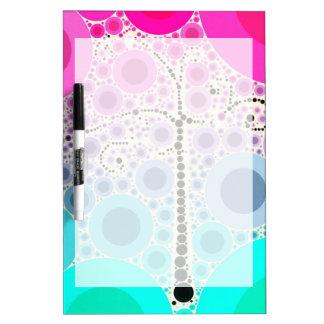 ファンキーでカラフルなスクロール木は泡ポップアートを一周します ホワイトボード