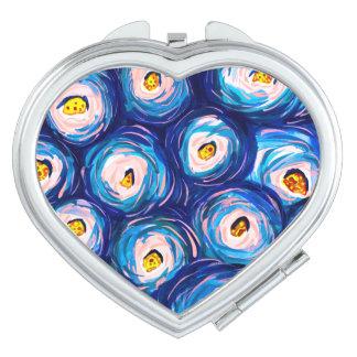 ファンキーでカラフルな水彩画の渦巻パターン鏡
