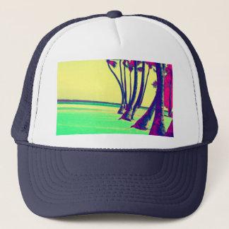ファンキーでサイケデリックなビーチのデザイン キャップ