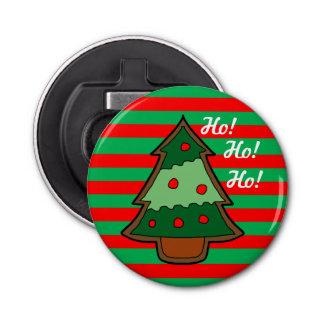 ファンキーでストライプなおよびクリスマスツリー 栓抜き