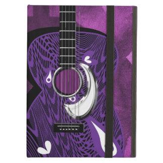 ファンキーでパターン(の模様が)あるなギター音楽テーマのiPadの空気箱 iPad Airケース