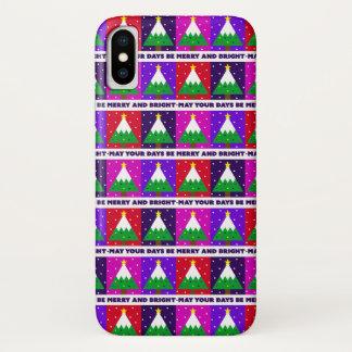 ファンキーでメリーで、明るいクリスマスツリー iPhone X ケース