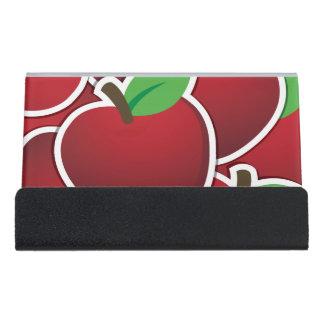 ファンキーで赤いりんご デスク名刺ホルダー