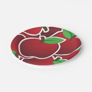 ファンキーで赤いりんご ペーパープレート