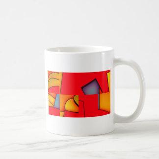ファンキーで赤い混乱 コーヒーマグカップ