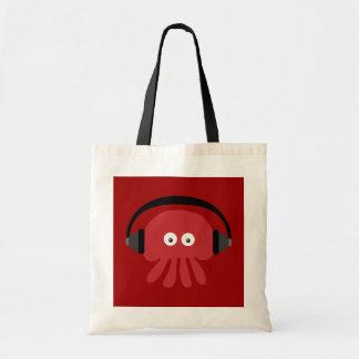 ファンキーで赤い漫画DJのくらげのバッグ トートバッグ