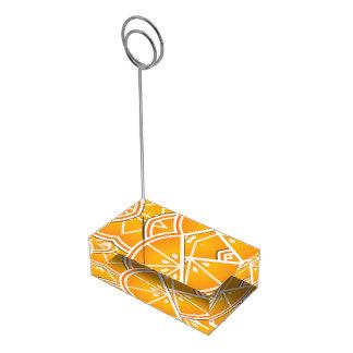 ファンキーなオレンジのくさび テーブルカードホルダー