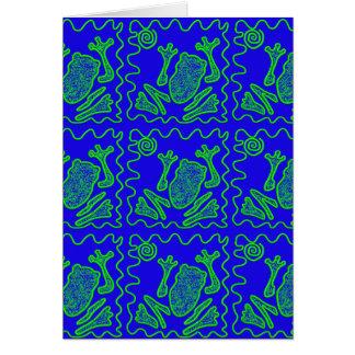 ファンキーなカエルのカラフルなヒキガエルの子供の落書きの芸術のギフト カード