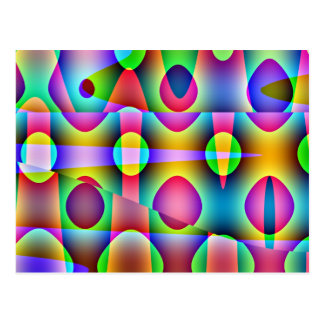 ファンキーなカラフルの抽象芸術 ポストカード