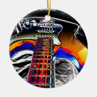 ファンキーなギター セラミックオーナメント