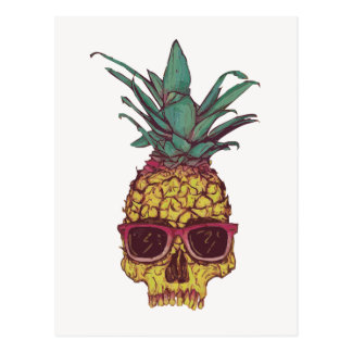 ファンキーなギークのカッコいいのパイナップルパンク ポストカード