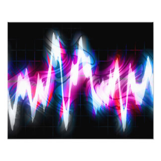 ファンキーなグラフィックEQの音声の波形 フォトプリント