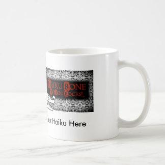 ファンキーなゴシックの俳句の骨のロゴ コーヒーマグカップ