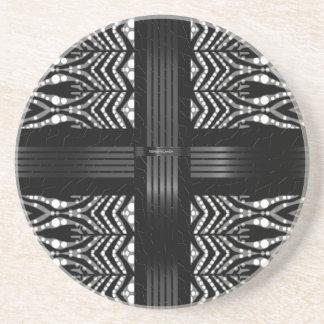 ファンキーなシマウマは縞で飾ります コースター