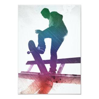 ファンキーなスケートボーダーのスケートの子供 カード