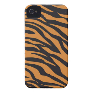 ファンキーなトラのストライプの野生動物はギフトを模造します Case-Mate iPhone 4 ケース