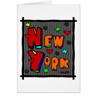 ファンキーなニューヨークの多色刷りフレームの芸術 カード