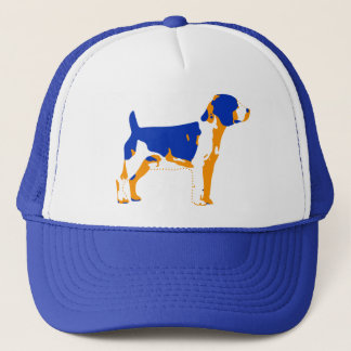 ファンキーなビーグル犬のポップアート キャップ