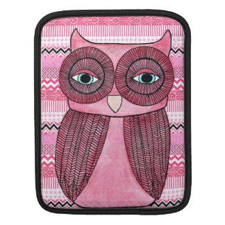ファンキーなピンクのフクロウのイラストレーションIPADカバー袖 iPadスリーブ