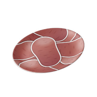 ファンキーなピンクのポテト 磁器プレート
