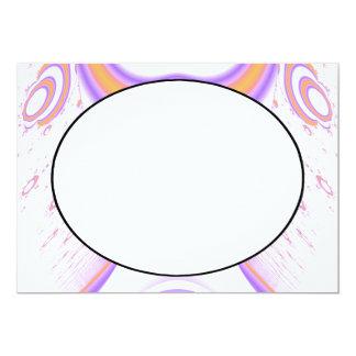 ファンキーなフラクタルパターン。 オレンジおよび紫色 カード