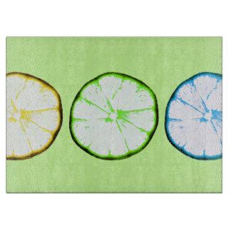 ファンキーなフルーツ-レモンおよびライムの切れ カッティングボード
